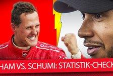 Hamilton vs. Schumacher: Formel-1-Legenden im Statistik-Check