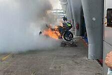 MotoGP Sepang: Brand in Suzuki-Box, Motorrad beschädigt