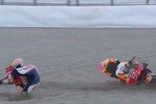 MotoGP Valencia 2018: Vinales auf Pole, Marquez stürzt heftig