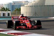 Formel 1 2018: Pirelli Reifen-Test in Abu Dhabi - Mittwoch