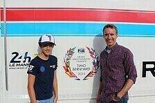 Timo Bernhard mit Juniorteam im ADAC Kart Masters