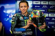 Valentino Rossi präsentiert Winterhelm für MotoGP-Test