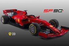 Formel 1, Ferrari-Präsentation 2019: Vettels Auto in neuem Rot