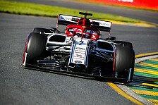 Formel 1 - Kimi Räikkönens Alfa-Debüt: Ärger um Abreißvisier