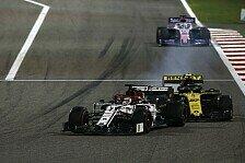 Formel 1 Bahrain: Kimi Räikkönen berauscht von Mittelfeld-Fight