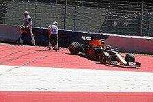 Formel 1 Österreich, Verstappen: Wind schuld an Trainings-Crash