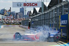 Formel E - Video: Formel E: Unfälle, Crashes, Dramen beim Finale in New York