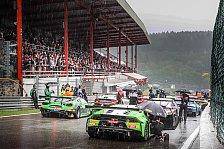 24h Spa 2019: Starkregen - Rennen stundenlang unterbrochen