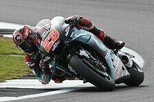 MotoGP Silverstone 2019: Fabio Quartararo im Warm-Up vorn
