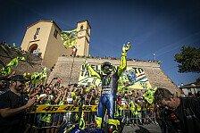 Che spettacolo! Valentino Rossis Fahrt durch Tavullia