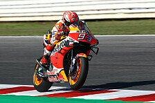 MotoGP Misano 2019: Marquez holt FP4-Bestzeit und stürzt danach