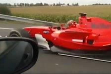 Formelauto auf Autobahn in Tschechien - Polizei ermittelt