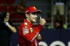 Formel 1 Singapur, Leclerc doppelt baff: Mit drei Fehlern Pole!