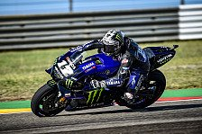 MotoGP Aragon 2019: Vinales in feuchtem Warmup voran