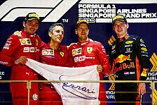 Formel 1 2019: Singapur GP - Podium