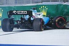 Formel 1: Russell-Crash nach Defekt, Kubica-DNF zum Teilesparen