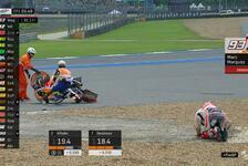 MotoGP Thailand: Heftiger Unfall im Training von Marc Marquez