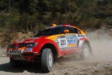 WRC - Tunesien - Etappe 2: Doppelführung für Mitsubishi