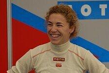 Formula Master - Rahel Frey nach dem Rennen in Pau
