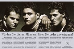 Legend�re Lederjacken: Saubers Junioren Anno 1990 - Foto: Mercedes-Benz