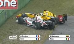 So begegneten sich Grosjean & Maldonado in der GP2 - Foto: Lotus/Facebook