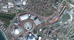 Sochi International Circuit von oben - Foto: Satellitenbild/Google