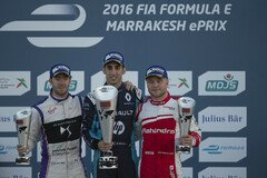 Das Podium in Marrakesch - Foto: Formula E