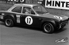 Stewart 1970 in einem Ford Escort - Foto: Sutton