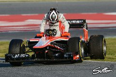 Chilton in Barcelona im Dauereinsatz - Foto: Sutton