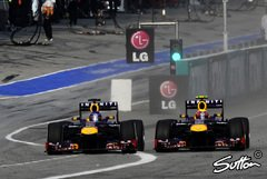 Boxengassen-Spa� 2013 bei Red Bull - Foto: Sutton