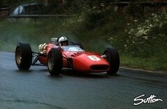 John Surtees beim Belgien GP 1966 - Foto: Sutton