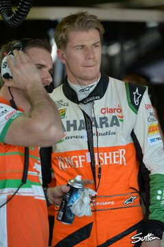 H�lkenberg f�hlt sich bei Force India wohl - Foto: Sutton