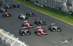 Der Start in Australien ging an Ferrari - Foto: Sutton