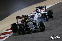 Force India und Williams lieferen sich ein Duell um Platz vier - Foto: Sutton