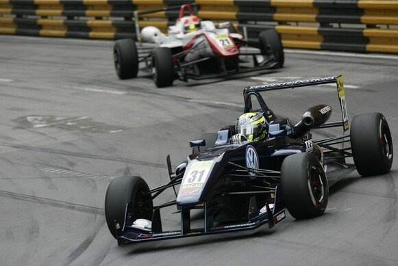 Tom Blomqvist ging 2012 in Macau für EuroInternational an den Start