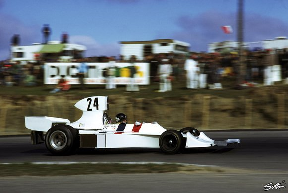 1974 ging James Hunt mit dem Hesketh an den Start