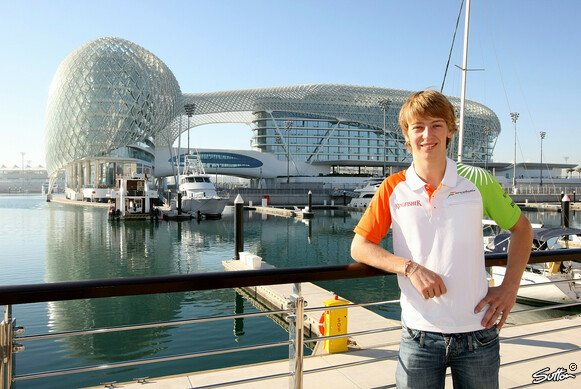 Johnny Cecotto Junior durfte 2011 für Force India in Abu Dhabi testen