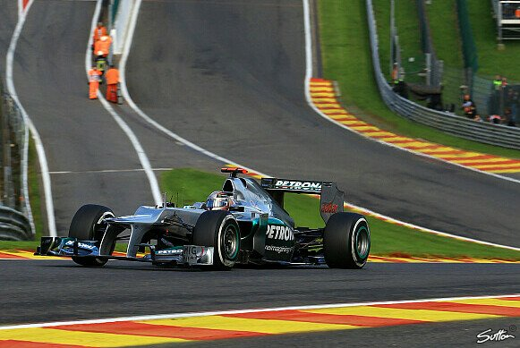 Wo landet Michael Schumacher in Spa?