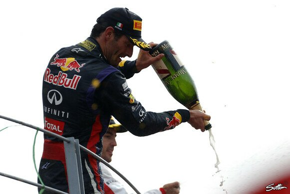 Webber jubelte am Podium