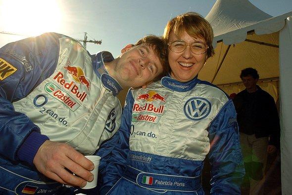 Dirk von Zitzewitz und Fabrizia Pons. - Foto: VW Motorsport