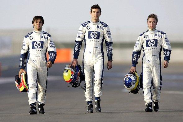 Die drei weiß-blauen Gladiatoren für 2005. - Foto: Williams