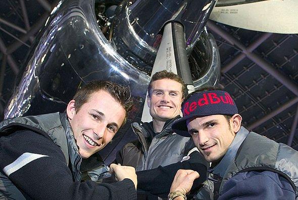 Das Red Bull-Trio: Fixstarter Coulthard & die 'Gladiatoren´ Klien & Liuzzi… - Foto: Red Bull