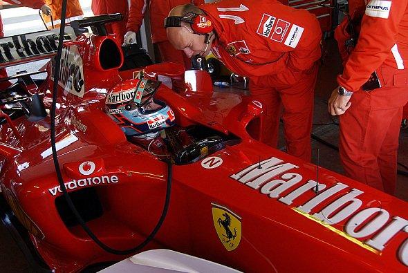 Bertolini testete erneut in Vairano. - Foto: Ferrari Press Office