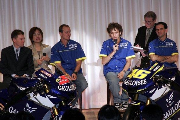 In Tokio stellte Yamaha die neue Lackierung der M1 vor. - Foto: Yamaha Racing
