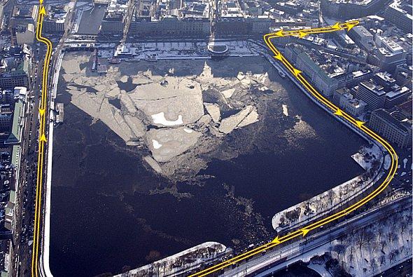 So wird die Strecke in Hamburg verlaufen. - Foto: ITR