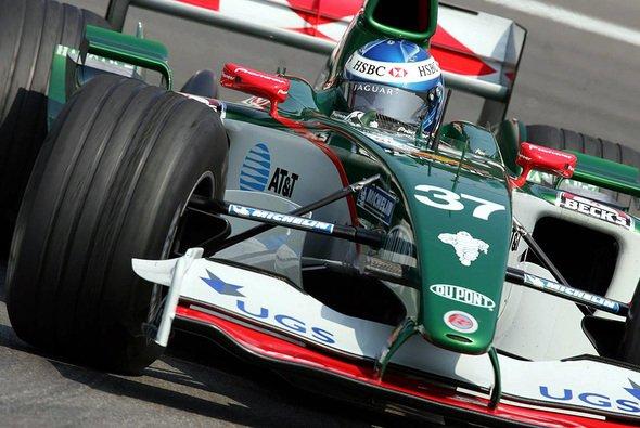 Bjorn Wirdheim 2005 bei Formel-1-Probefahrten für Jaguar