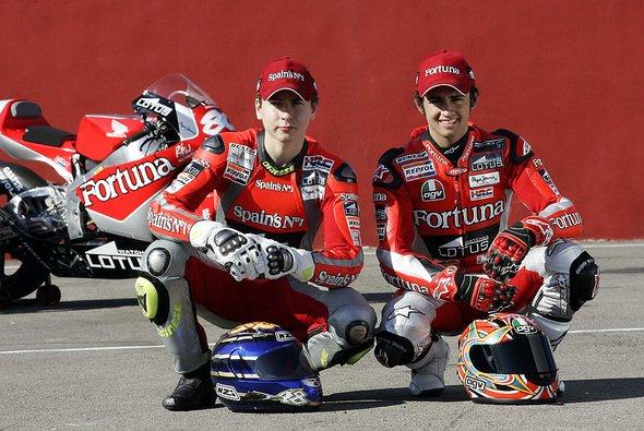 Barbera & Lorenzo freuen sich auf die neue Saison. - Foto: Fortuna Honda