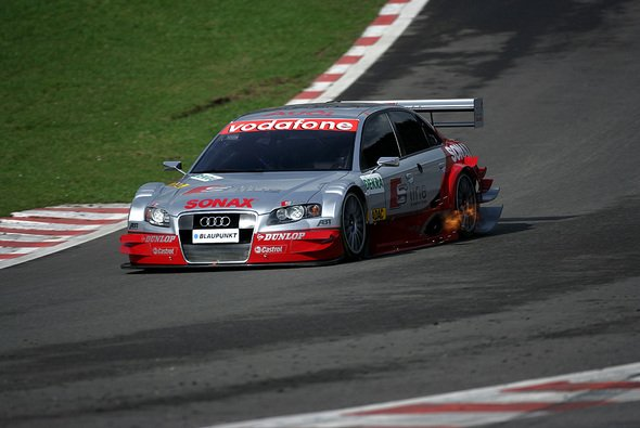 Martin Tomczyk fuhr erstmals mit dem neuen Audi gegen die Konkurrenz. - Foto: Audi