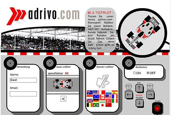 Werden Sie Testfahrer mit dem adrivo.com Rennspiel! - Foto: adrivo Sportpresse