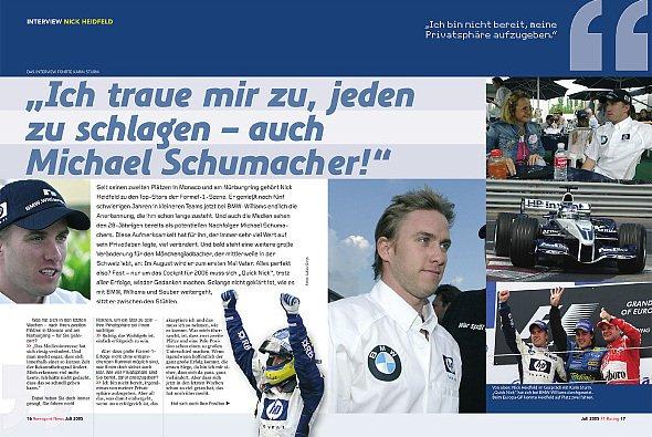 Das gesamte Interview mit Nick finden Sie in der Juli Ausgabe der Rennsport News F1. - Foto: bpa Sportpresse